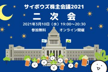 3/10開催!サイボウズ株主会議2021二次会