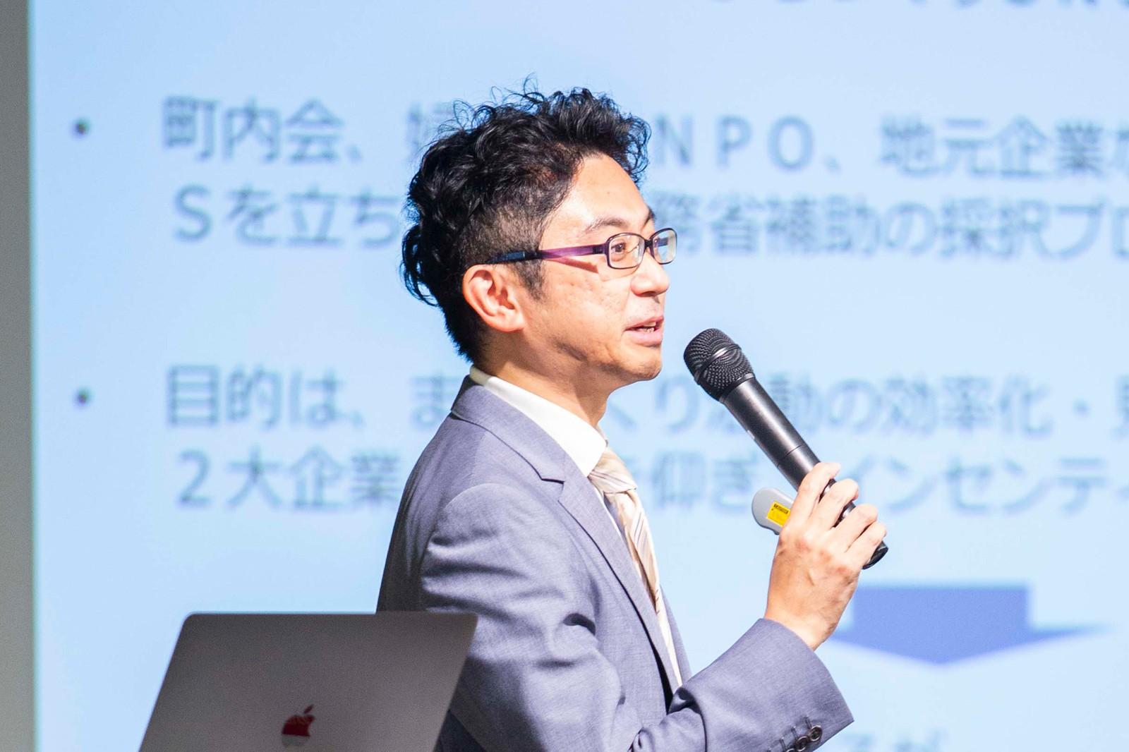 JAPAN COLLECTIVE IMPACT in 渋谷で事例を紹介をする髙田裕介氏